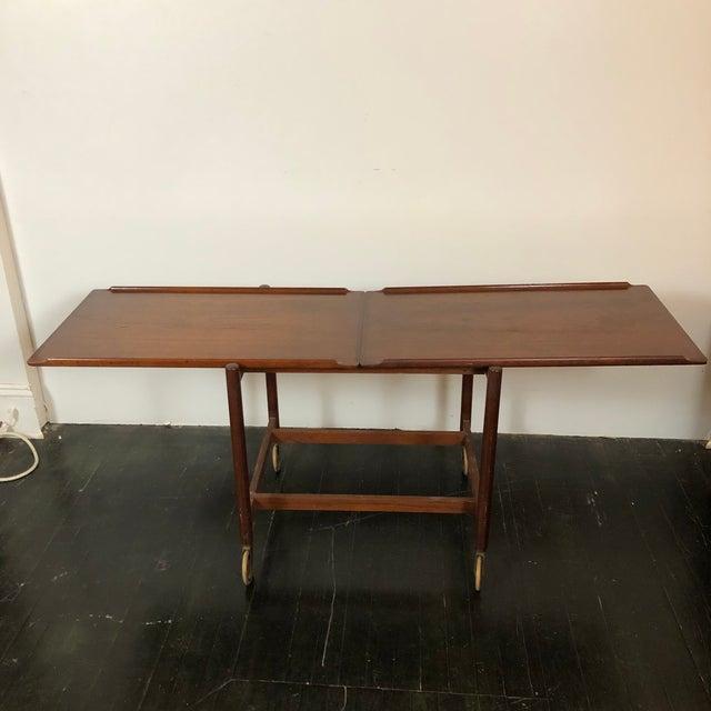 1960s Danish Teak Expanding Server/Bar Cart For Sale - Image 9 of 13