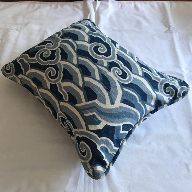 "Newly made designer fabric decorative lumbar pillow. Kravet: Sarah Richardson Harmony Collection. Fabric: ""Decowaves"" in..."