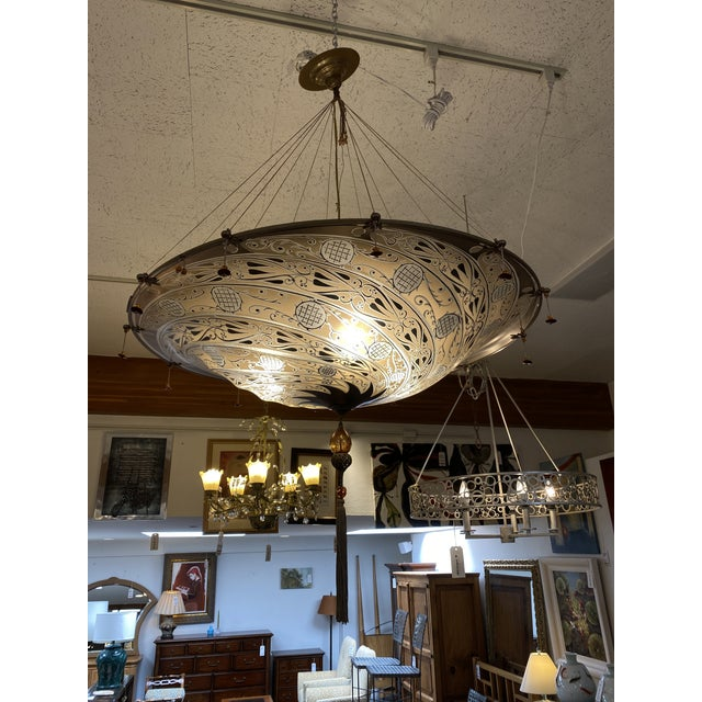Mariano Fortuny Archeo Venice Murano Glass Chandelier For Sale In San Francisco - Image 6 of 13
