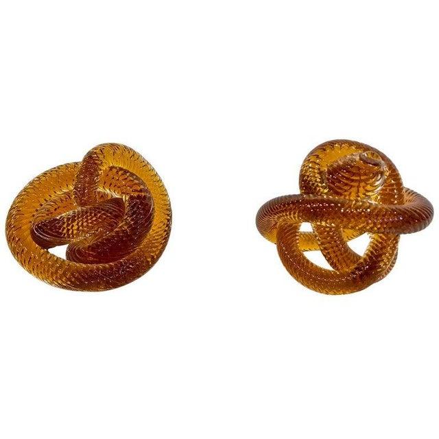 Licio Zanetti Mid-20th Century Zanetti Glass Knots - a Pair For Sale - Image 4 of 9