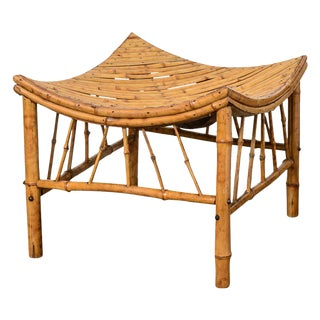 English Bamboo Thebes Stool