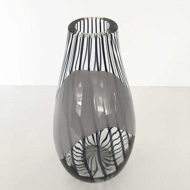 Livio Seguso Striped Murano Art Glass Vase For Sale - Image 10 of 13