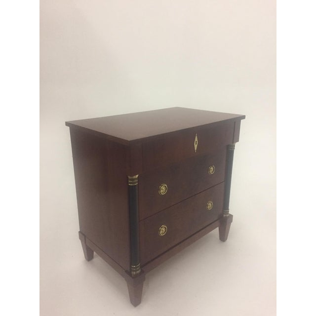 Brown Empire Style Small Chest of Drawers Commode For Sale - Image 8 of 12