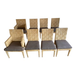 1990s Donghia Block Island Dining Chairs - Set of 8 For Sale