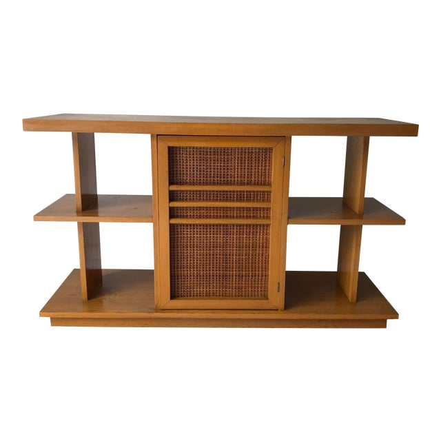 Midcentury Modern Sofa Table Book Case Maple Apartment Size For Sale