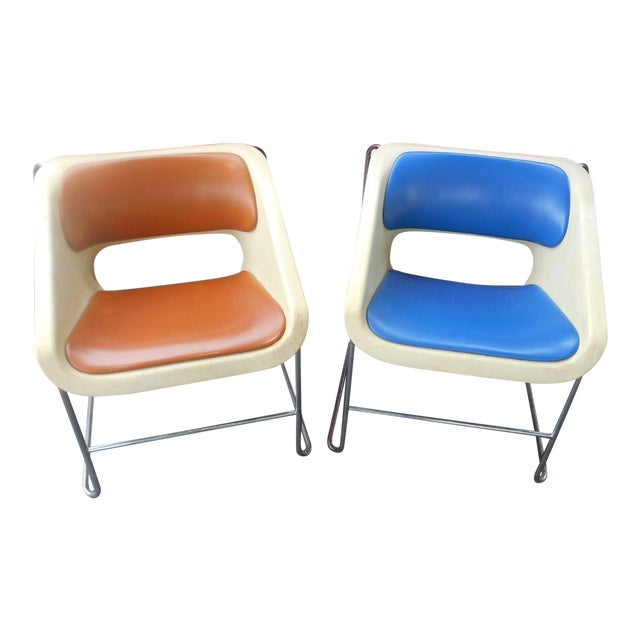 """Mid-Century Modern Artoplex """"Lotus"""" Stacking Chairs - A Pair For Sale"""