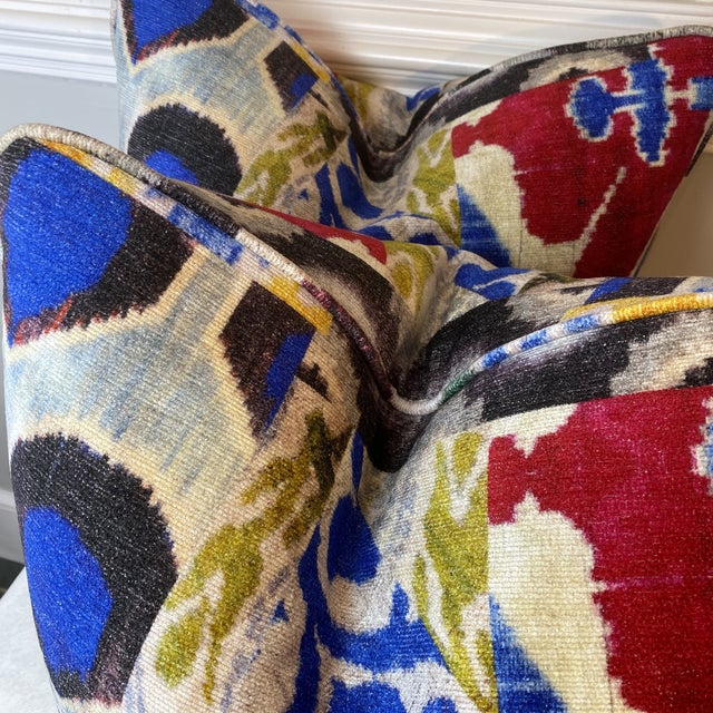 """""""Haute Bohemian"""" in Red 22"""" Pillows-A Pair For Sale - Image 4 of 10"""