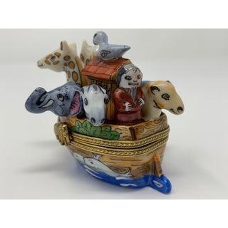 Noah's Ark Limoges Porcelain Box Preview