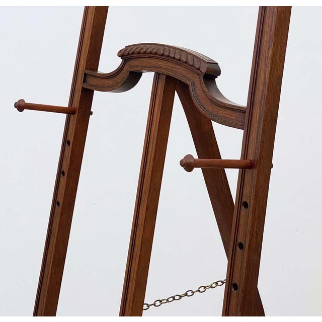 English Artist's or Display Easel With Carved Wood Accents For Sale - Image 10 of 13