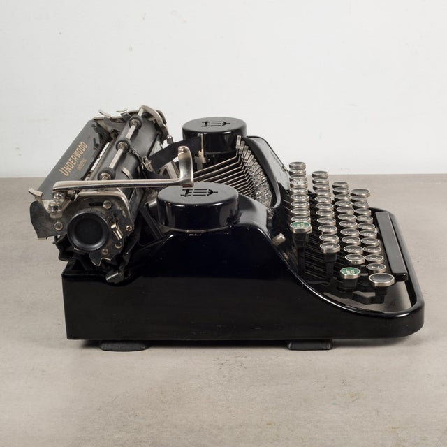 Antique Underwood Universal Portable Four Bank Typewriter C.1935 For Sale In San Francisco - Image 6 of 12