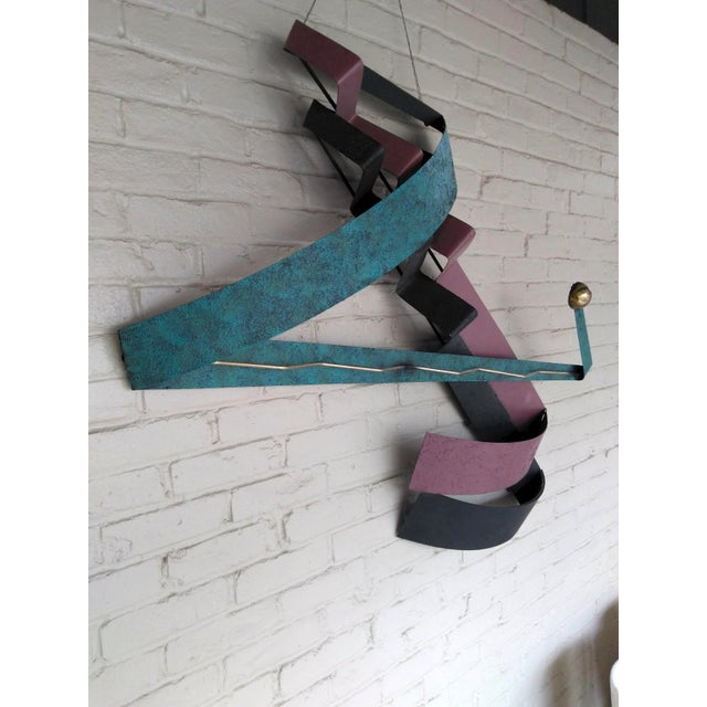 Black C. Jere 1980s Contemporary Wall Sculpture For Sale - Image 8 of 12