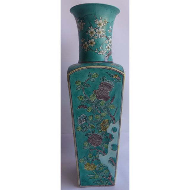 Vintage Antique Famille Rose China Vase - Image 2 of 11