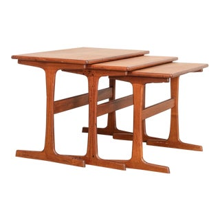 Danish Modern Teak Nesting Tables by Kai Kristiansen