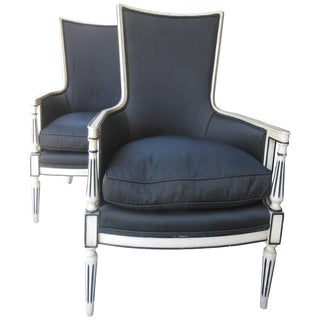 Vintage Mid-Century Regency Armchairs- A Pair For Sale