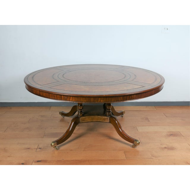 Large Maitland Smith Round Dining Table For Sale - Image 13 of 13