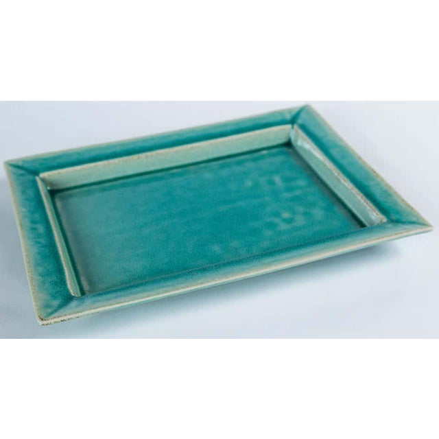 Vintage Crackle-Glaze Ceramic Tray, by Jars, France, Mid-20th Century For Sale - Image 4 of 11