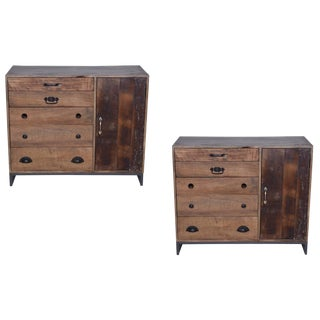 Contemporary Colborne Reclaimed Wood Sideboards - a Pair