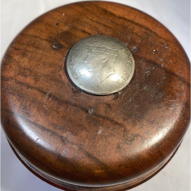 Antique English Edwardian Period Pipe Tobacco Walnut Humidor For Sale - Image 4 of 10