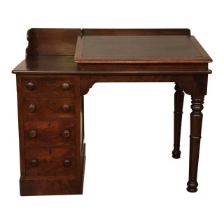 19th Century Victorian Burlwood Walnut Secretary Desk