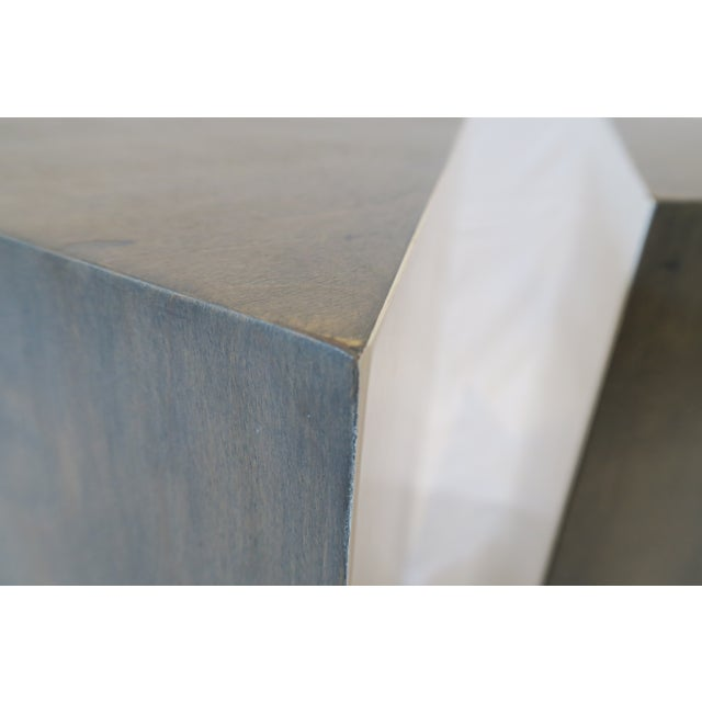 Triangle Side Tables - A Pair - Image 7 of 8