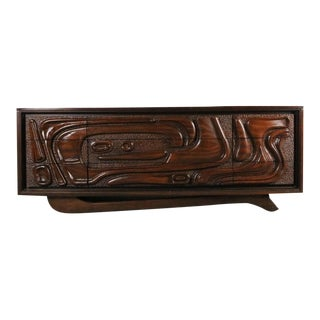 United Furniture Co. Mid Century Modern Low Profile Tv Console For Sale