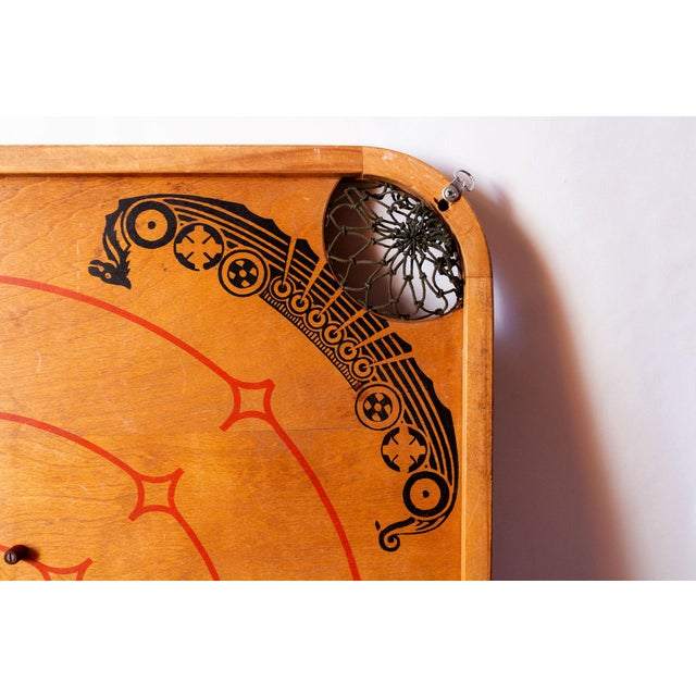1930s 1930s Boho Chic Viking Motif Carrom Board For Sale - Image 5 of 7