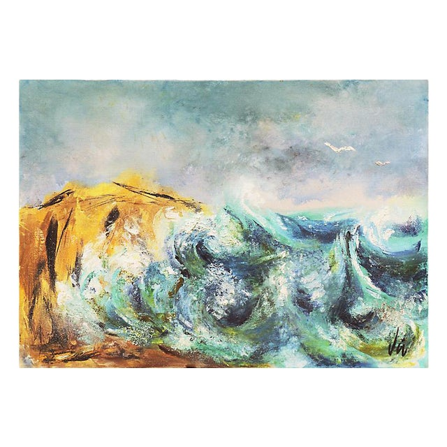 Modernist Seascape, C. 1960 For Sale