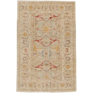 """Persian Sultanabad Rug - 6'1"""" x 9'6"""" For Sale"""