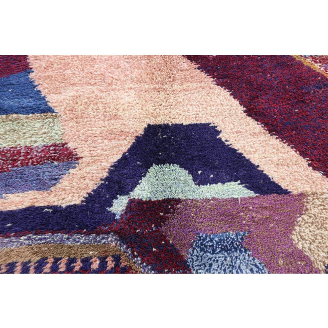 Contemporary Berber Moroccan Postmodern Memphis Style Rug - 8′10″ × 12′11″ For Sale In Dallas - Image 6 of 8