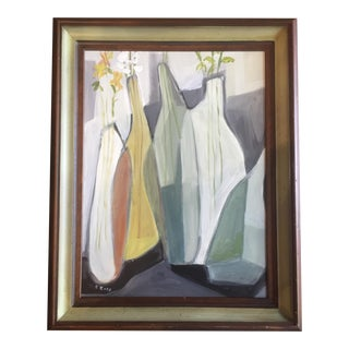 Original Stewart Ross Modernist Still Life Painting