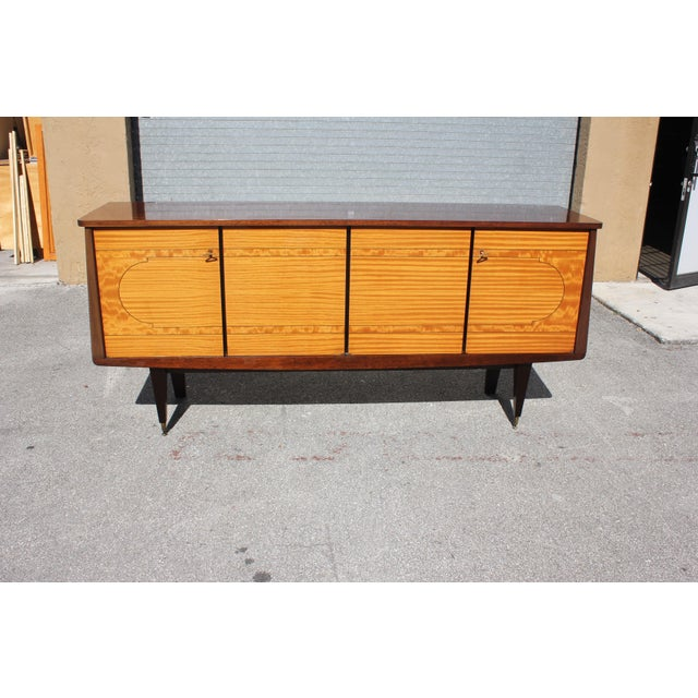 1940s French Art Deco Mahogany Sideboard For Sale - Image 12 of 13