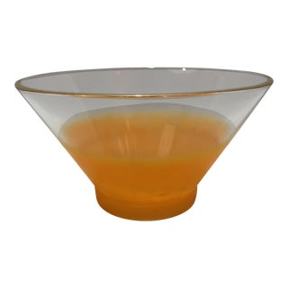 Mid-Century Blendo Peach Frosted Serving Bowl