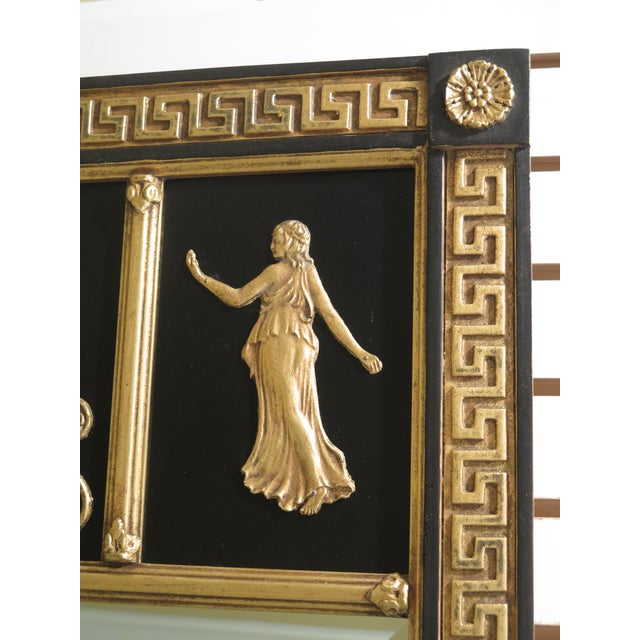 Friedman Brothers Friedman Brothers Neoclassical Style Black & Gold Mirror For Sale - Image 4 of 10