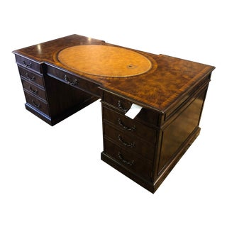 Maitland Smith Regency Mahogany Desk For Sale