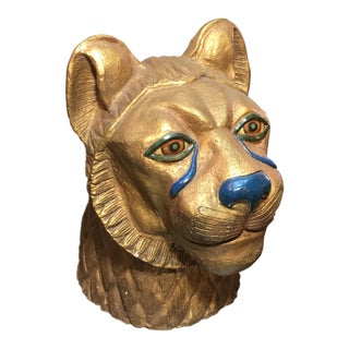 Mid-Century Modern Bust of a Lion