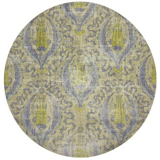 "Nicolette Mayer Byzantine Jewel Gold 16"" Round Pebble Placemat, Set of 4 For Sale"