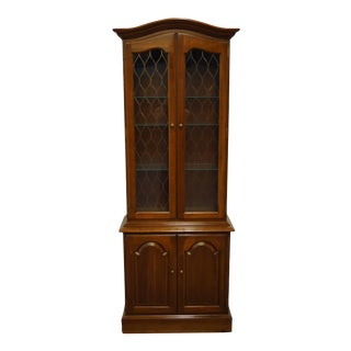 Ethan Allen Georgian Court Solid Cherry Display Curio Cabinet For Sale