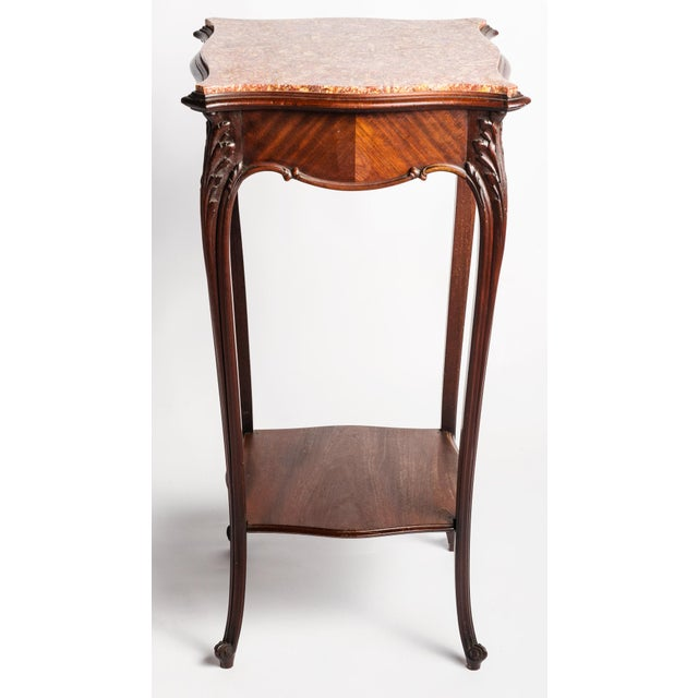 1900 - 1909 Vintage French Marble Top Stand For Sale - Image 5 of 7