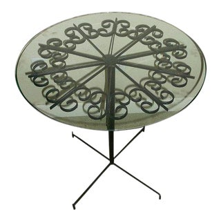 1964 Arthur Umanoff for Boyuer Scott Wrought Iron Cafe Dining Table