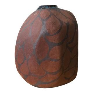 Organic Giraffe Spotted Studio Pottery Vase