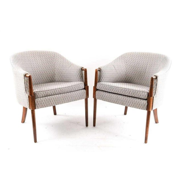 Mid-Century Vintage Ward Bennett Style Chairs- A Pair For Sale - Image 9 of 9