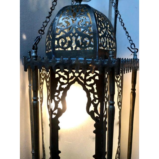 Moroccan Moorish Hanging Lantern For Sale - Image 4 of 6