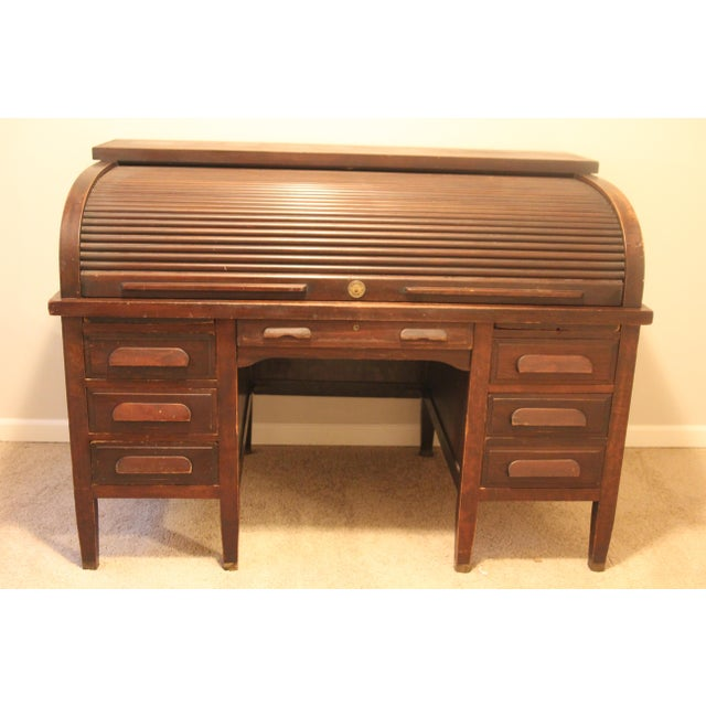 f354e7ad37d38 This solid mahogany Rishel (1920-1930s) rolltop desk is extremely rare and  the