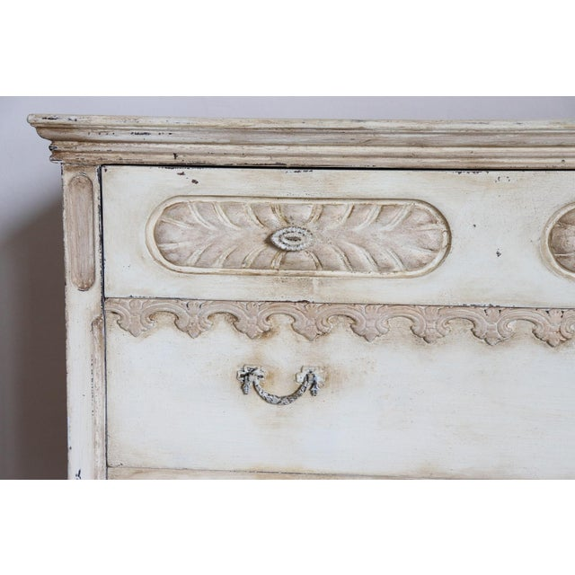 20th Century Italian Country Lacquered Commode and Two Nightstand For Sale - Image 6 of 13