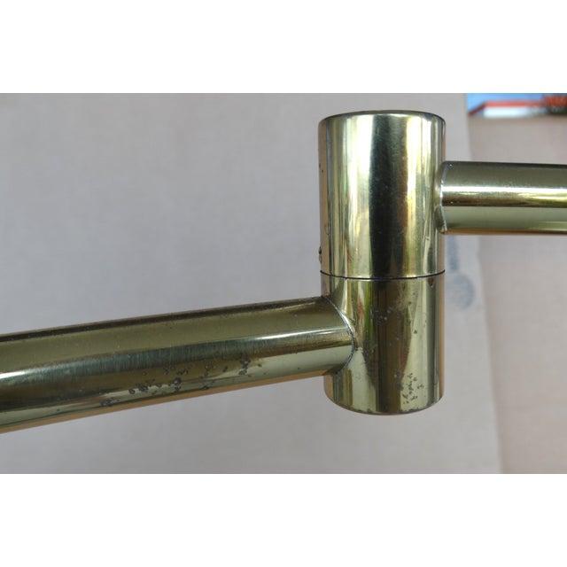 Koch & Lowy Brass Swing Arm Floor Lamp - Image 8 of 11