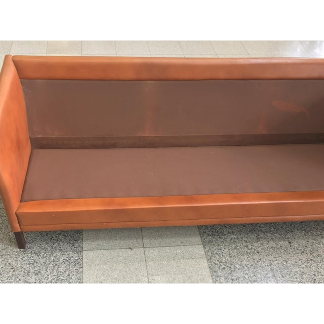 Brown Danish Mid-Century Modern Leather Sofa by Mogens Hansen For Sale - Image 8 of 11