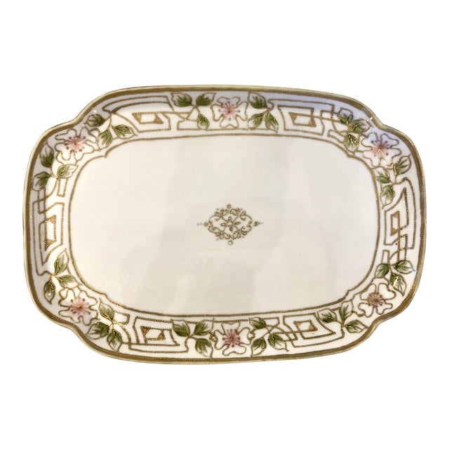Morimura Nippon Moriage Dressing Table Tray For Sale