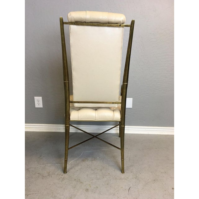 Mastercraft Brass Dining Chairs - Set of 4 - Image 4 of 9