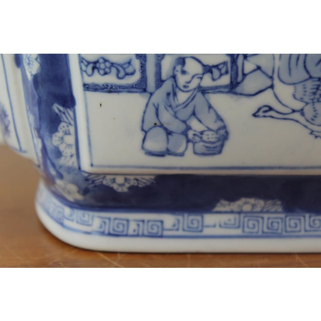 Vintage Mid Century Chinese Garden Scene Planter For Sale In New York - Image 6 of 7