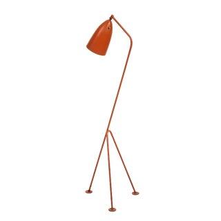 Orange Grasshopper Floor Lamp Designed by Greta Magnusson Grossman For Sale